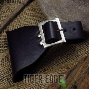 Universal Black Leather Sword Frog Blade Holder Medieval Single Buckle