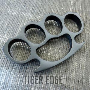 Large Heavy Duty Black Paperweight Brass Knuckle Belt Buckle