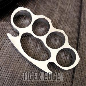 Large Heavy Duty Silver Paperweight Brass Knuckle Belt Buckle