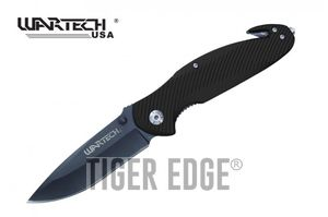 Spring-Assisted Folding Knife | Wartech Black 3.5