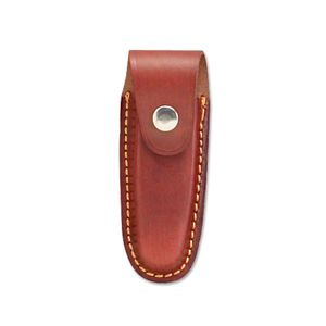 Red-Brown Leather Belt Pouch Sheath for 4