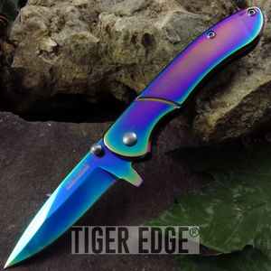 Tac-Force Slim Profile Rainbow Spring Assist Folding Knife Everyday Carry