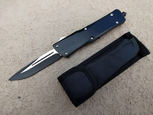 OTF Automatic Knife Double Edge Blade Heavy Duty Black - WNS-IT-7304