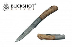 Damascus Steel Blade Folding Knife | Buckshot 3