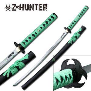 Z-Hunter Dead Walking Green Zombie Killer Katana Carbon Steel Sword