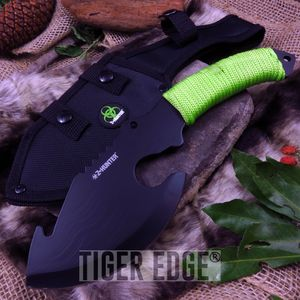 Z-Hunter Zombie Survival Hybrid Knife/Hatchet Cleaver w/ Green Paracord