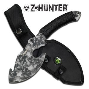 Z-Hunter Grey Nightmare Zombie Skull Axe Hunting Blade Sheath Dead Walking