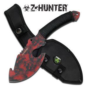 Z-Hunter Red Nightmare Zombie Skull Axe Hunting Blade Sheath Dead Walking