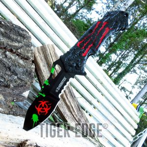 Z-Hunter Zombie Killer Red Biohazard Spring-Assisted Folding Knife