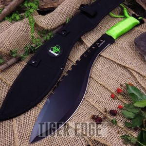 Z-Hunter Walking Dead Zombie Greeb Decapitator Kukri Machete Knife w/ Sheath