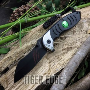 Z-Hunter Black Razor Style Spring Assist Folding Knife Zombie Dead Walking