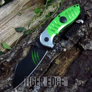 Z-Hunter Green Razor Style Spring Assist Folding Knife Zombie Dead Walking