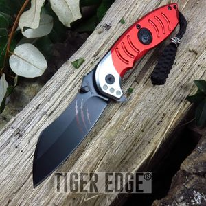 Z-Hunter Red Razor Style Spring Assist Folding Knife Zombie Dead Walking