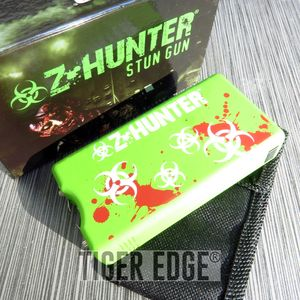 Z-Hunter Green Biohazard Zombie Zapper 3.5 Million Volt Stun Gun w/ Case