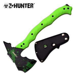 Z-Hunter Green Zombie Hacker Full Tang Tactical Axe Hatchet Tomahawk