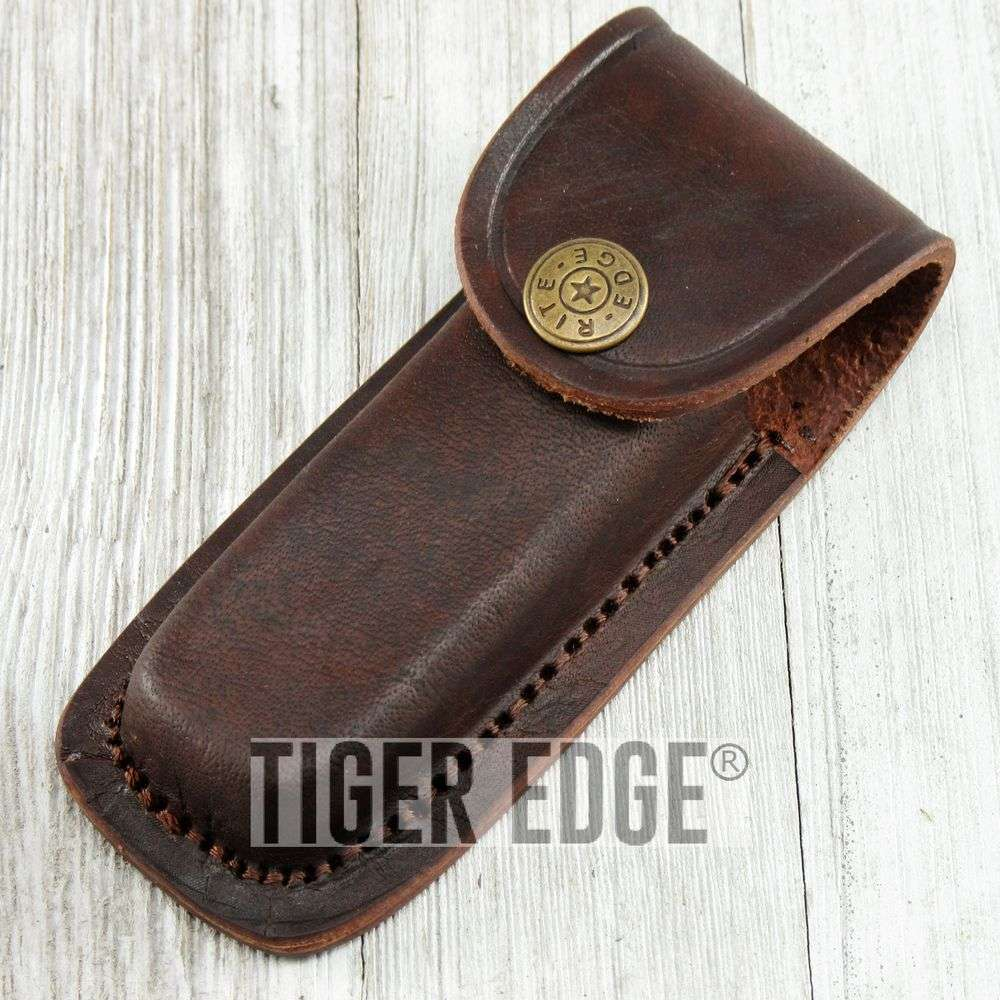 Brown Genuine Leather Belt Sheath For 4