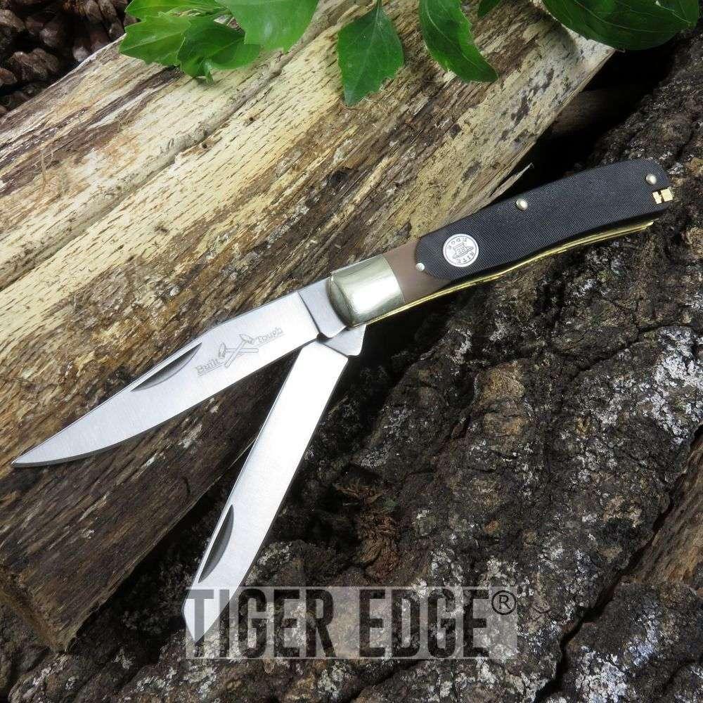 Folding Pocket Knife   Rite Edge Tweezer + Pick Classic Camping Blade Multi Tool