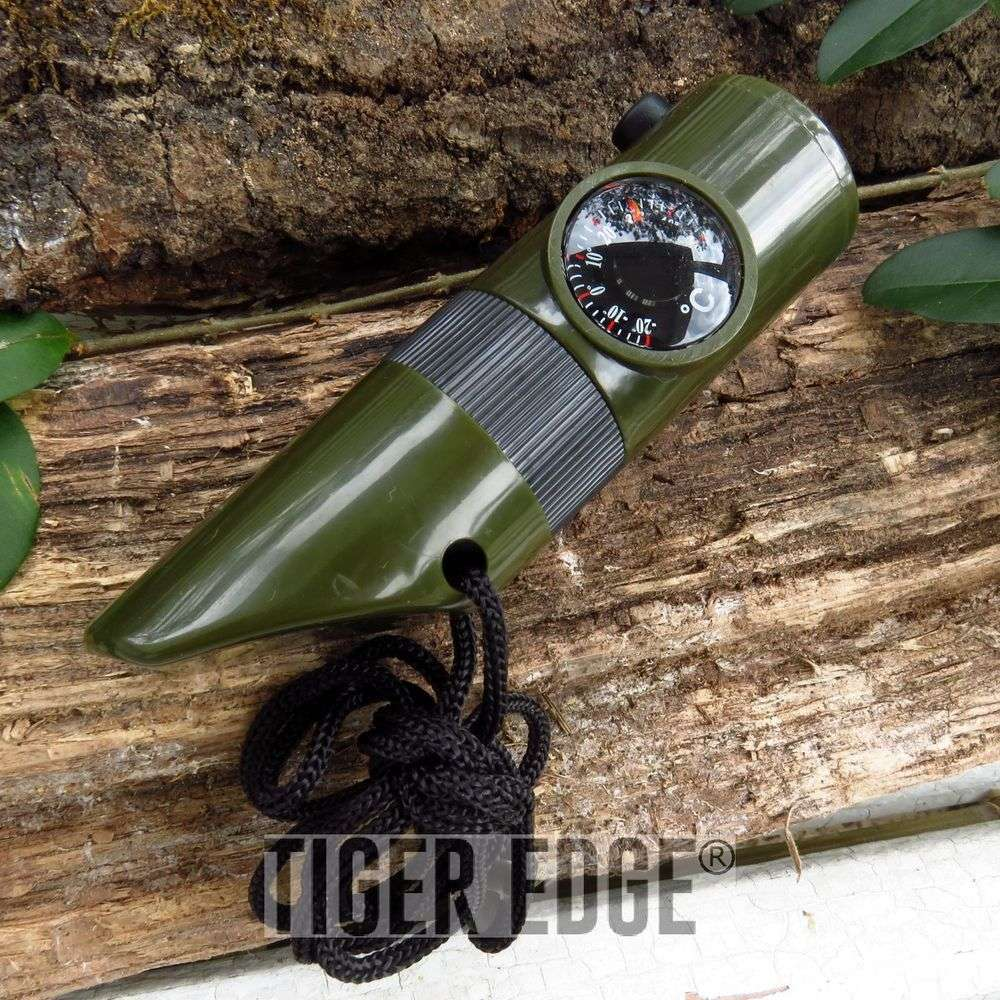 Compass Thermometer Led Whistle Survival Tool