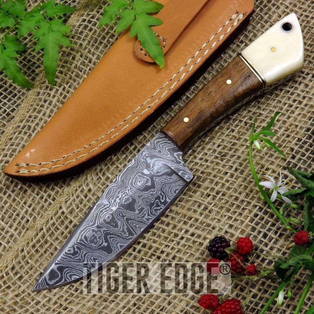 Damascus Fixed Blade Knife 8