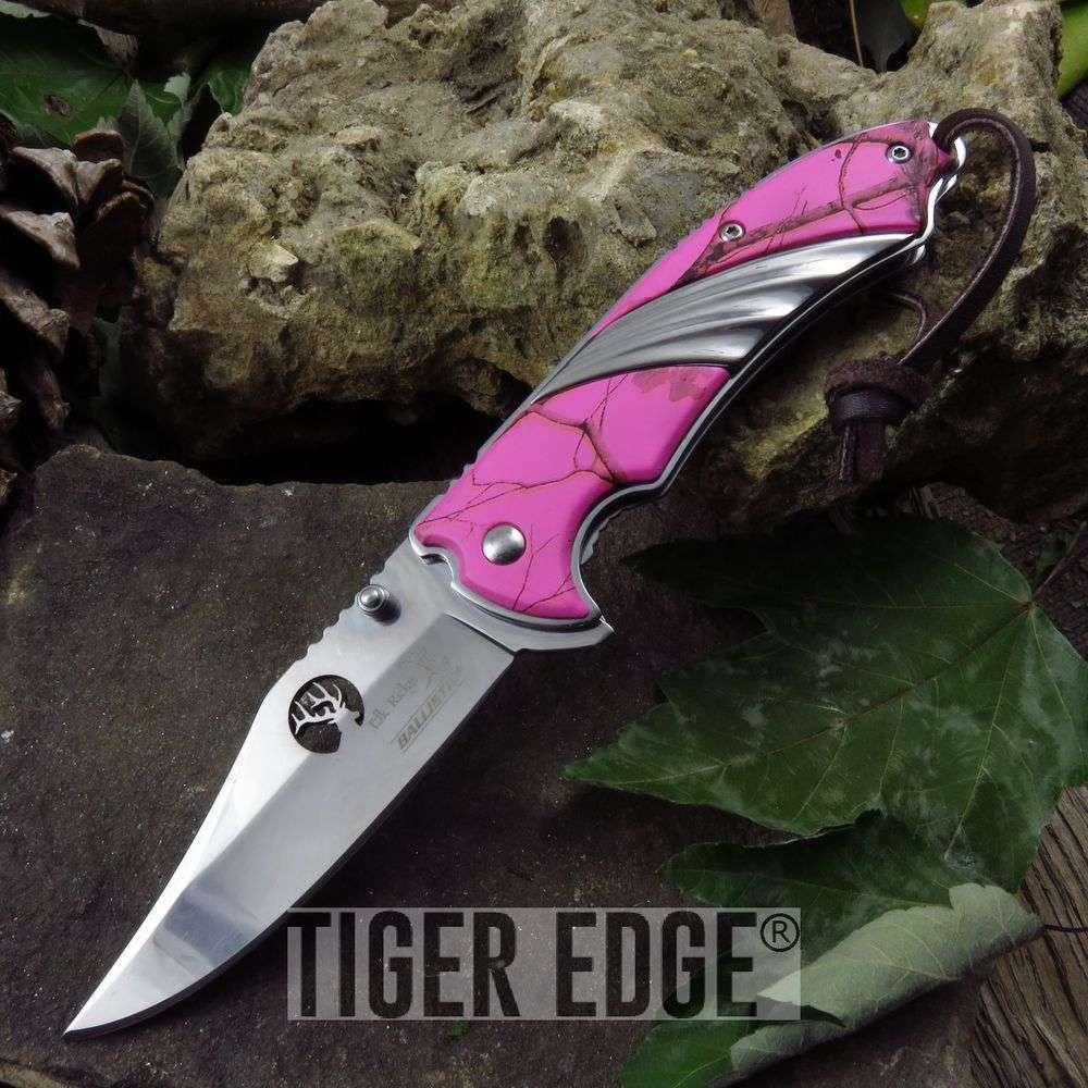 Spring-Assist Folding Pocket Knife Elk Ridge Silver Blade Gold Carbon Fiber Edc