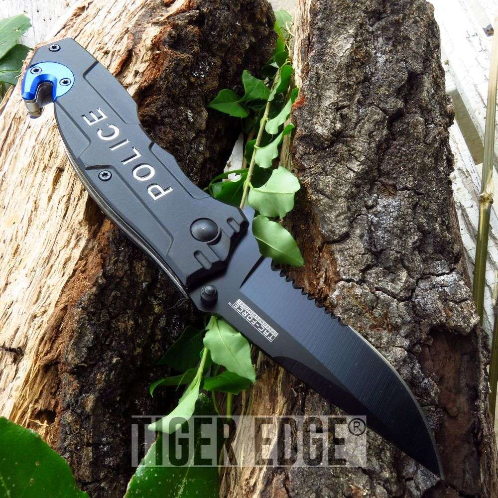 Tac-Force Police Department Law Enforcement Spring Assisted Rescue Knife