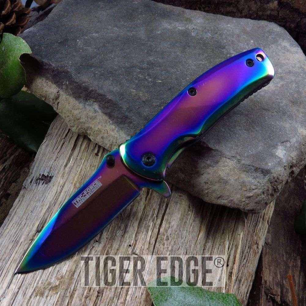 Spring Assist Folding Pocket Knife   Tac Force 3.5