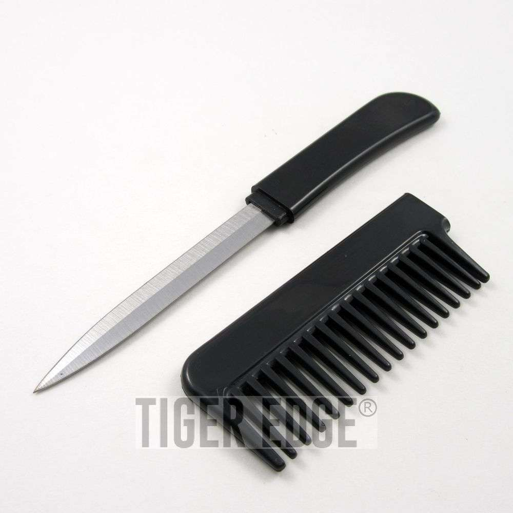 Classic Black Hidden Blade Comb Knife Women S Self Defense