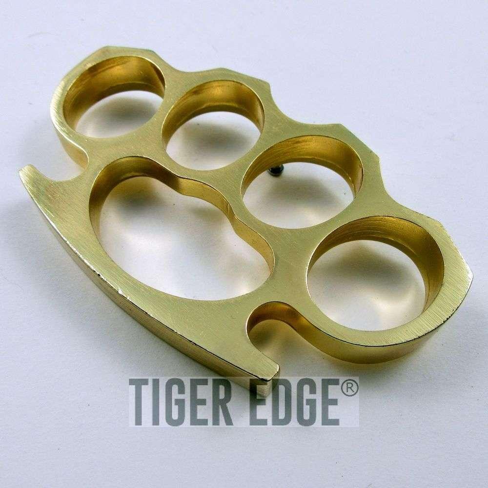 Large Heavy Duty Gold Paperweight Brass Knuckle Belt Buckle