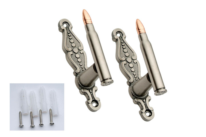 Two Piece Bullet Style Sword Hangers Decorative Display