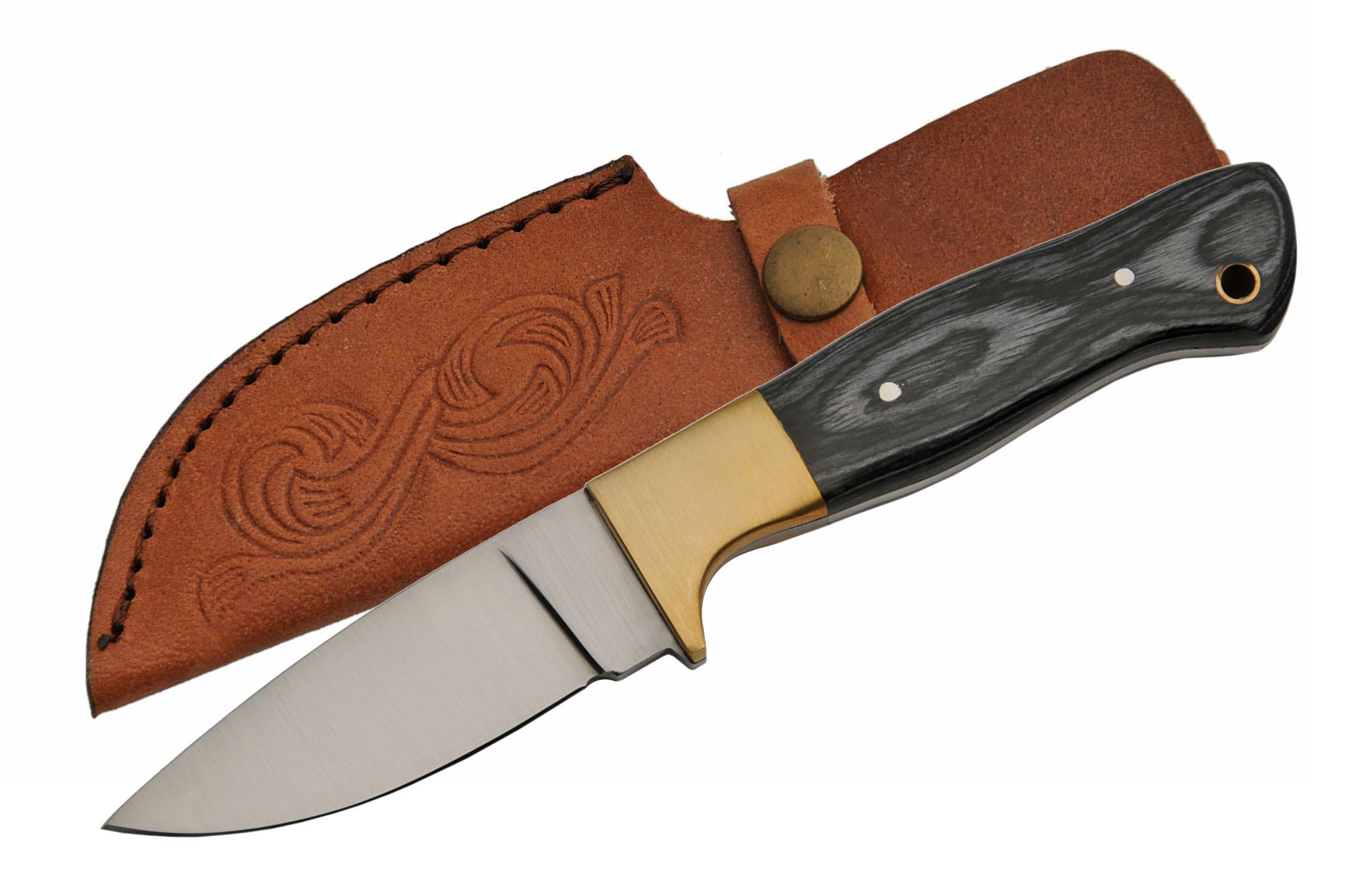 Hunting Knife Clip Point Skinner Blade Full Tang 8