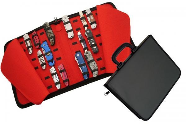 Over 40 Knives Leather/Felt Storage Case