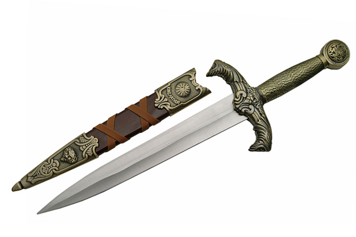 Fixed-Blade Dagger   Medieval King Arthur Knight Knife Costume Prop Replica