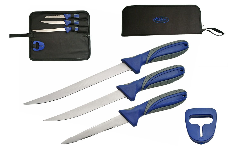 Hunting Fishing Knife Set   Rite Edge 4 Piece Hunter Fillet Blade Kit With Case