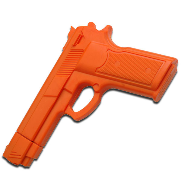 Martial Arts Training | Orange Rubber Combat Training Pistol Gun 7""