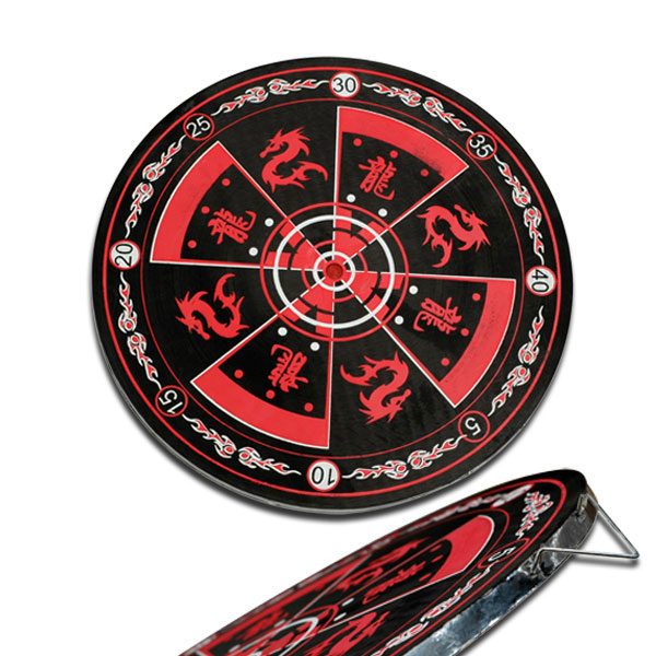 Throwing Knife Target | Black Red Dragon Dart Blade Practice Target