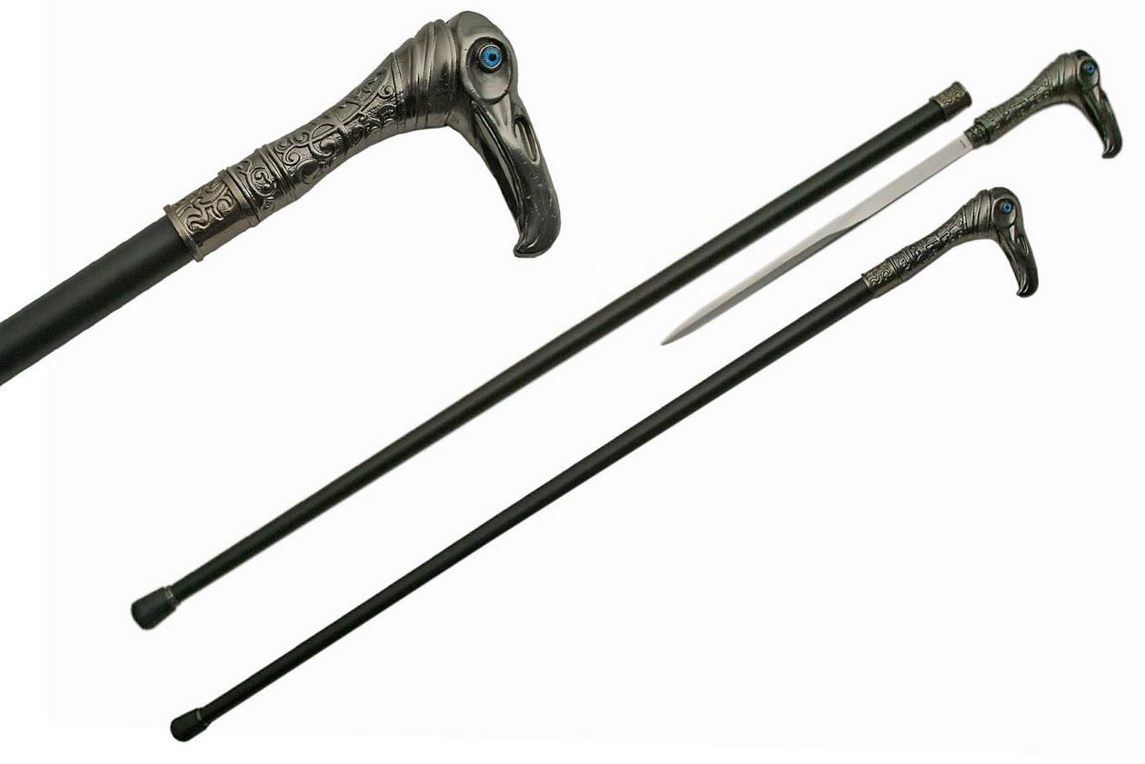 Sword Cane 36 5 Quot Overall Gray Vulture Walking Stick