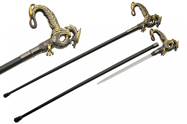 Walking cane sword
