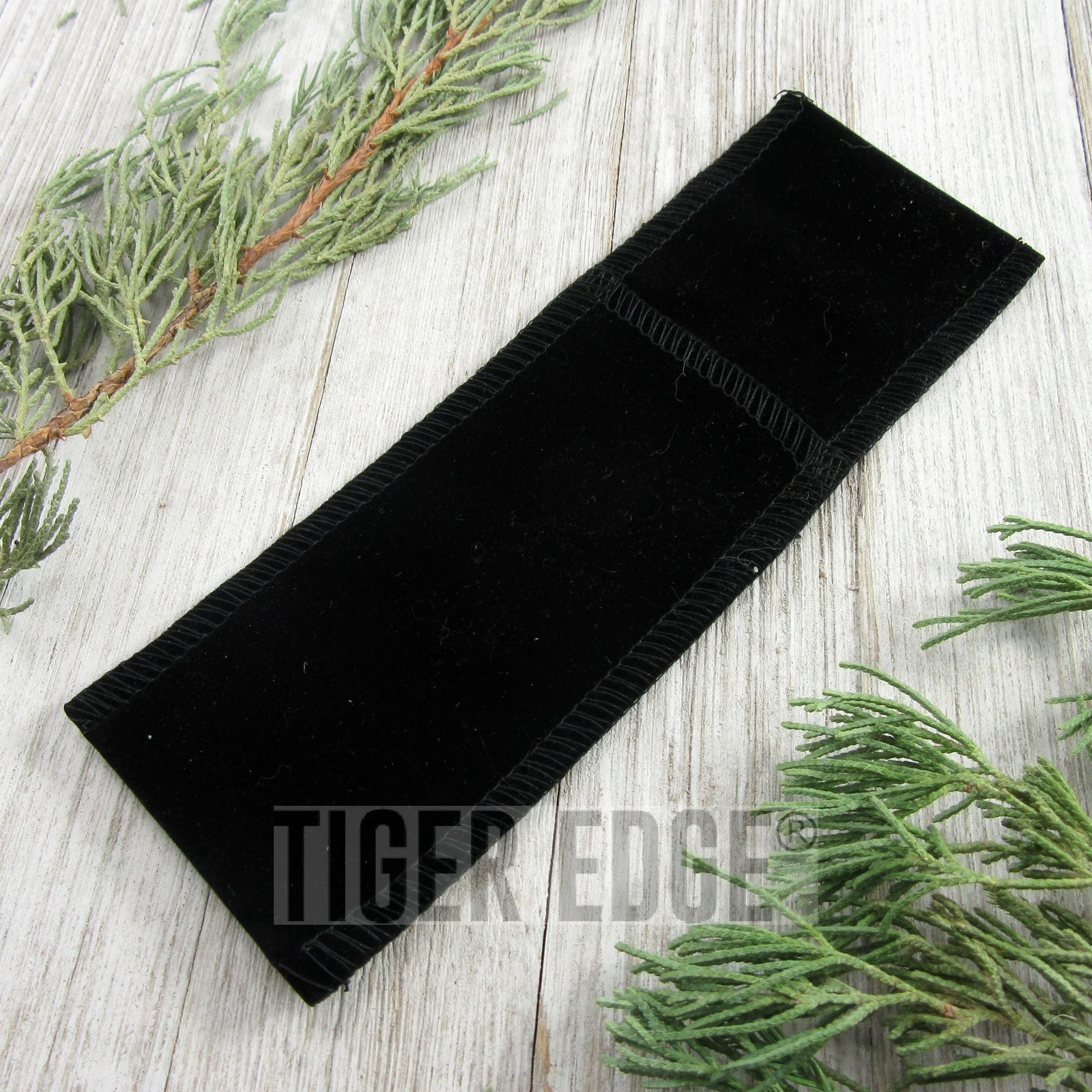 Folding Knife Sheath | Black Velvet Slip Case Pouch For Folders Up To 5""