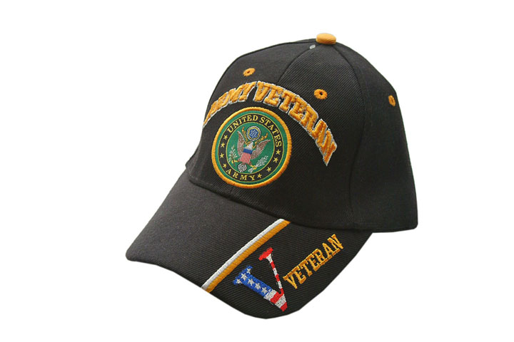 Us Army Veteran Black Baseball Cap - One Size Fits All