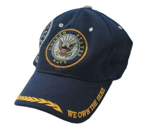 Us Navy Blue 'We Own The Seas' Baseball Cap - One Size Fits All