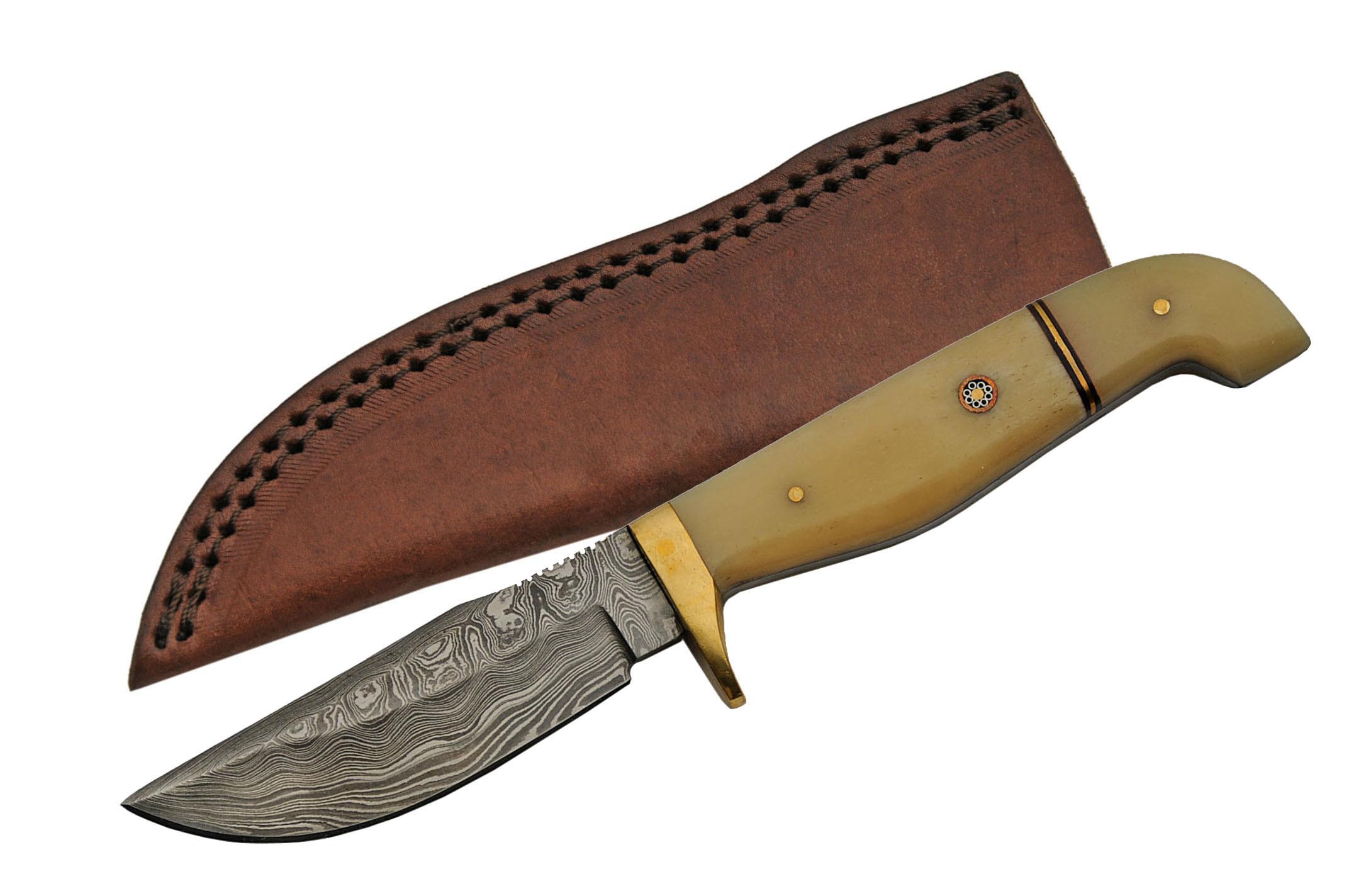 Damascus Steel Hunting Knife   8