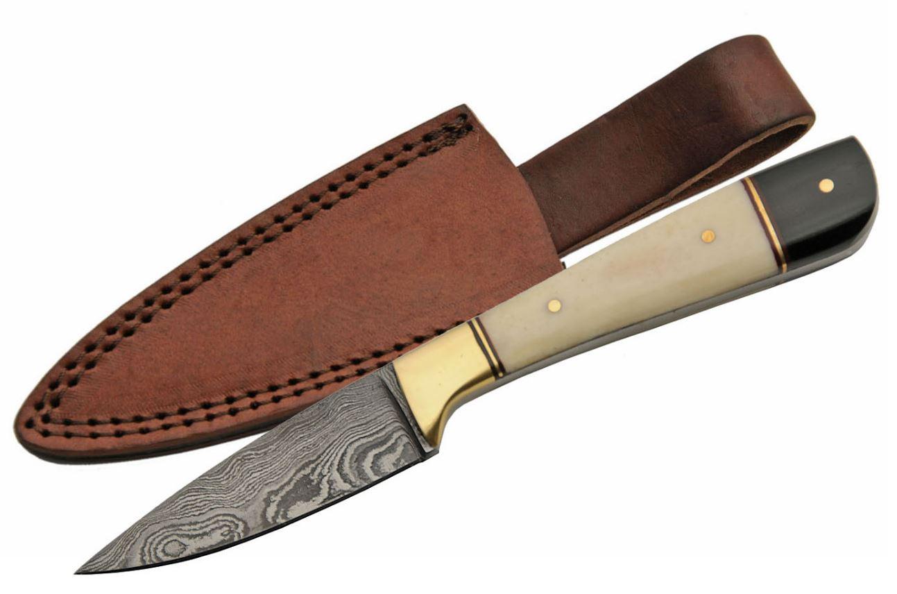 Damascus Steel Skinning Knife 7