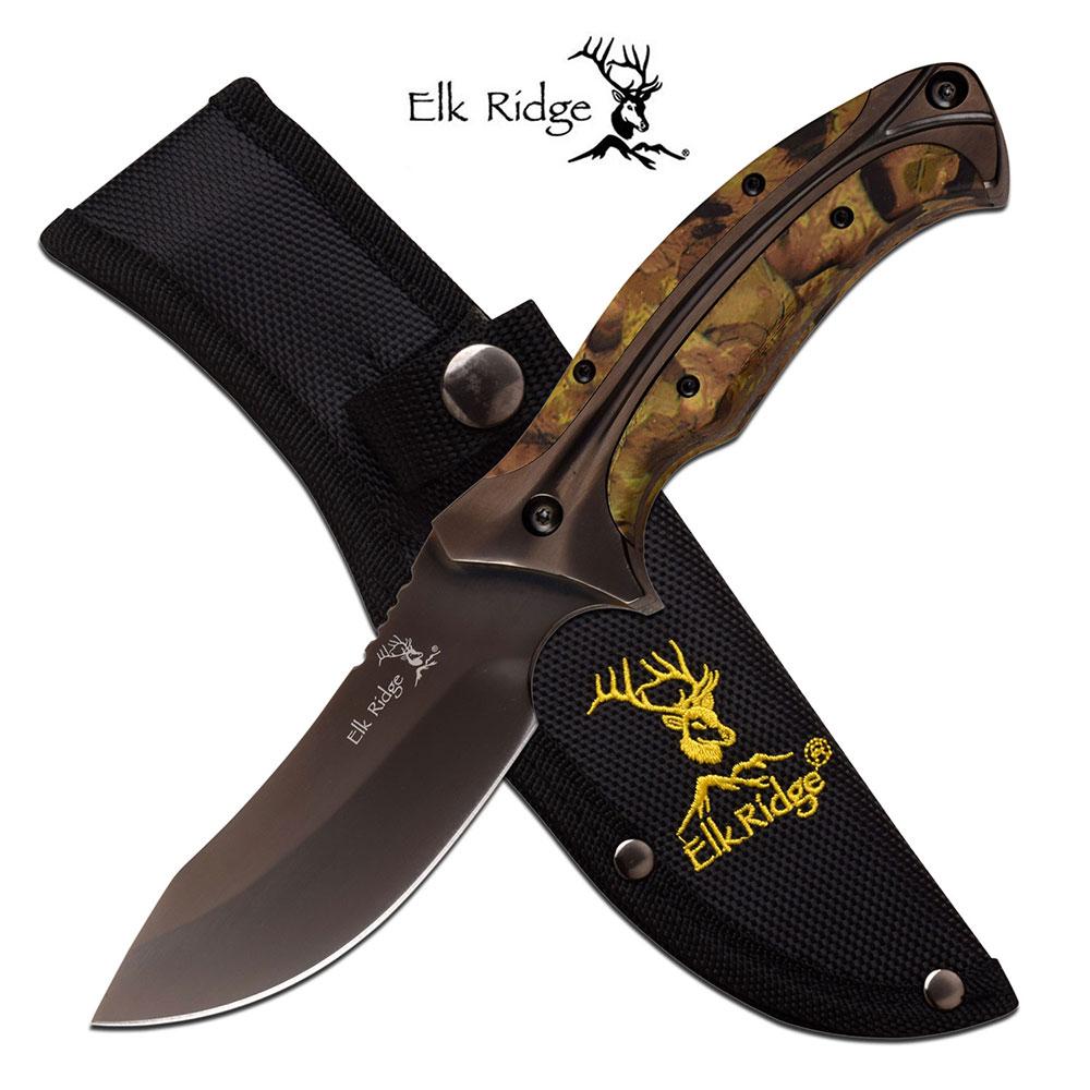 Fixed-Blade Hunting Knife Elk Ridge 8.75
