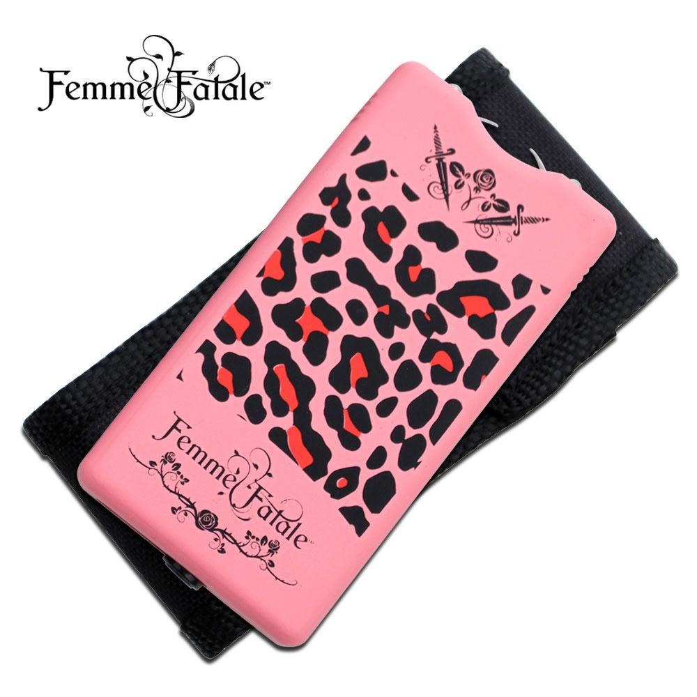 Femme Fatale Pink Leopard Women Girl Lady Stun Gun 3.5 Million Volts W/ Case