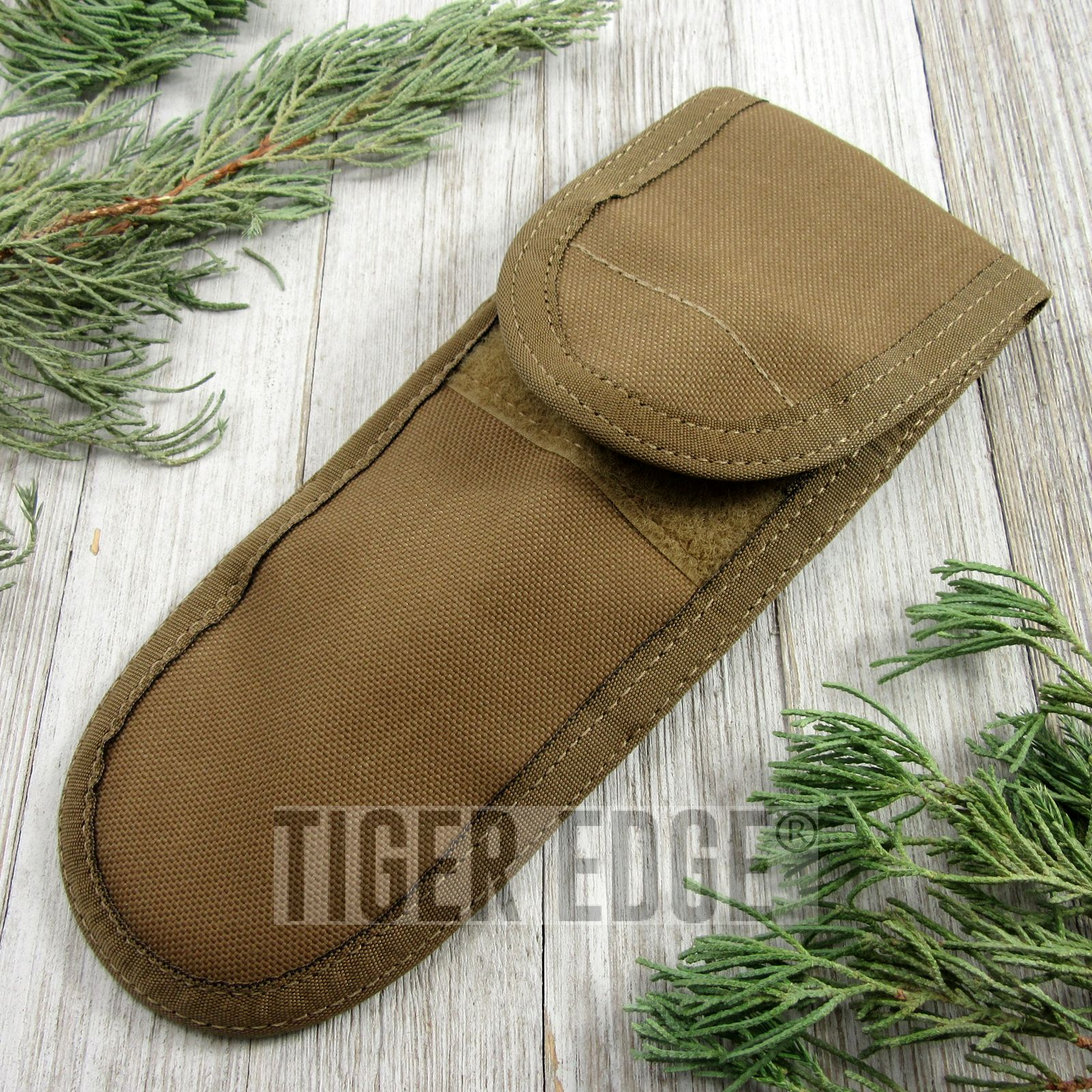 Folding Knife Sheath   Gerber Tactical Combat Tan Case Pouch - Fits Up To 8