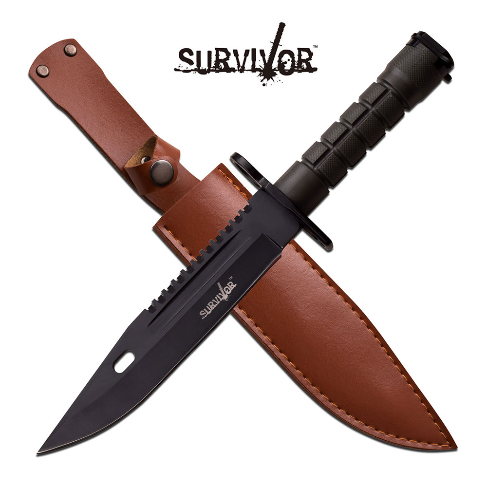 Fixed-Blade Tactical Knife   Black Army Green Military Bayonet Survival Blade