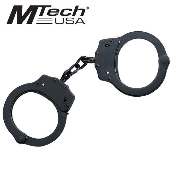 Black Double-Lock Handcuffs W/ 2 Keys