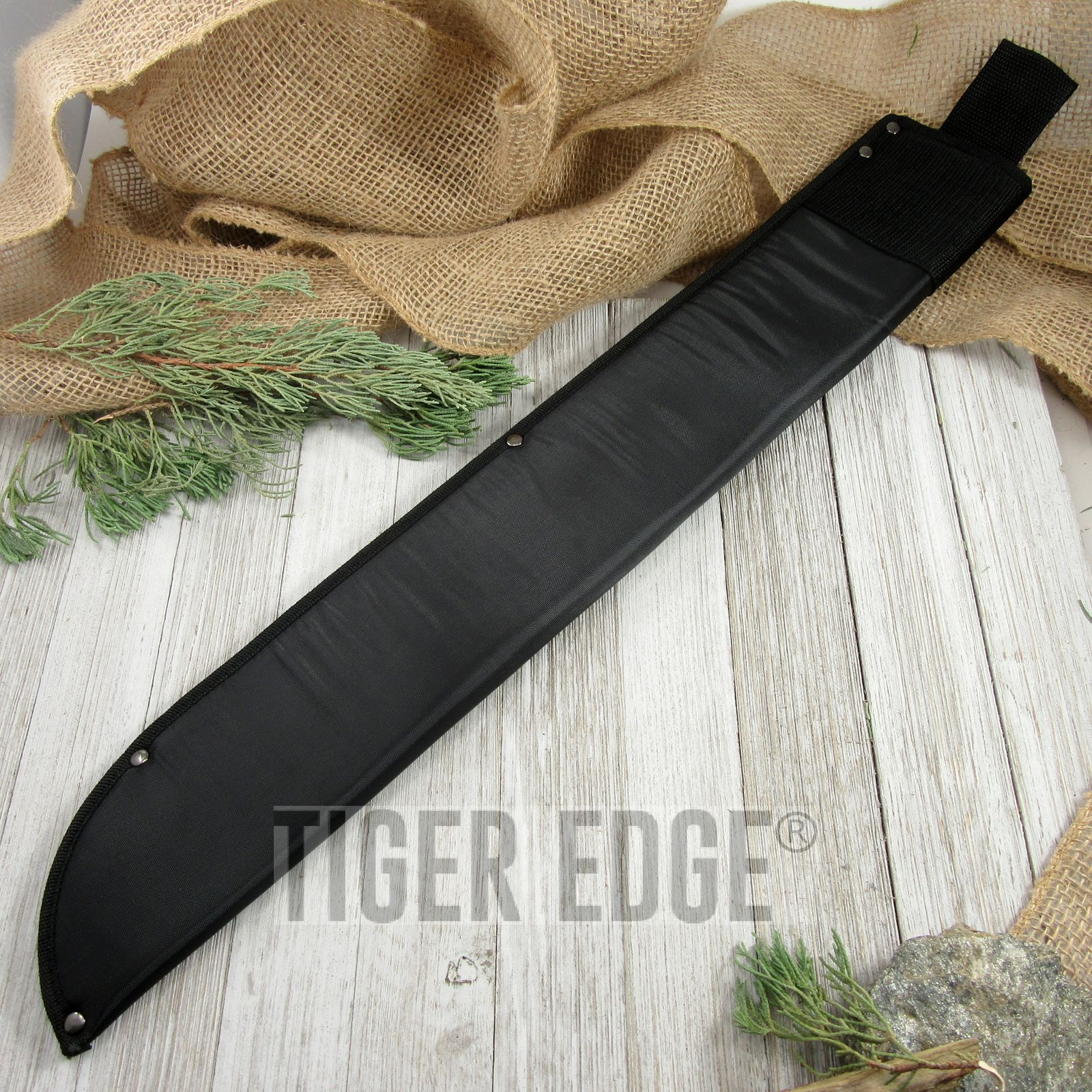 Fixed-Blade Knife Sheath   Black Machete Belt Carry Case Pouch - Up To 22
