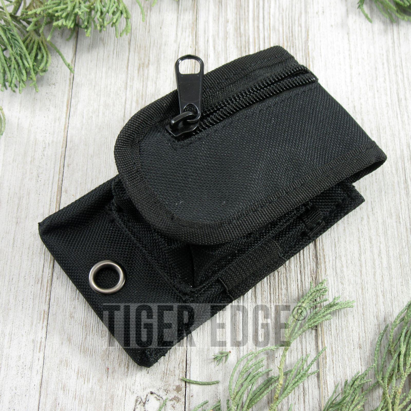 Folding Knife Sheath | Black Nylon Tactical Belt Pouch - For Folders Up To 3.5