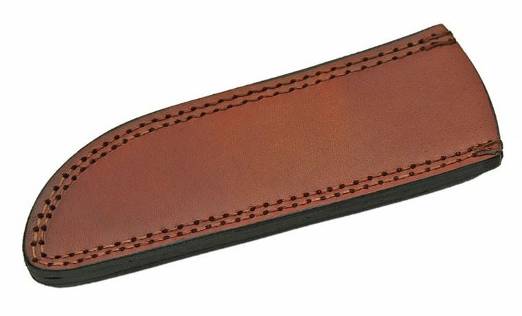 "Fixed-Blade Knife Belt Sheath Brown Leather 8.25"" Fits Up To 10.5"" X 2"" Blade A"